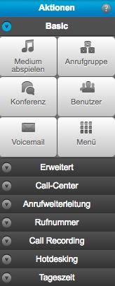 Aktionen für die Anruflogik